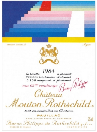 Yaacov Agam, for 1984 Photo: Mouton Rothschild